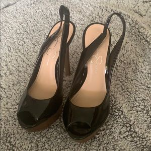 COPY - Jessica Simpson peep toe platform high heel